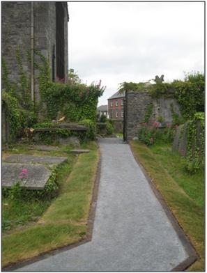 St Marys Church and Graveyard path