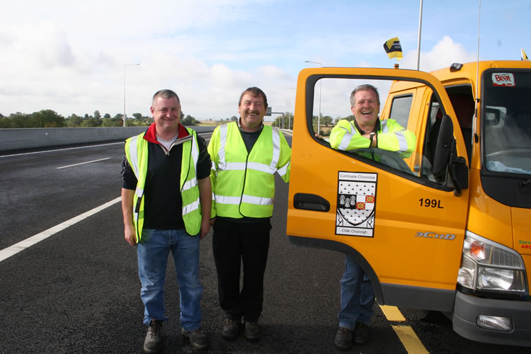 Kilkenny County Council Roads Staff and Vehicle