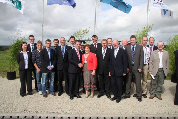 Kilkenny County Council Roads Staff with Minister Dempsey at M9-M10 opening
